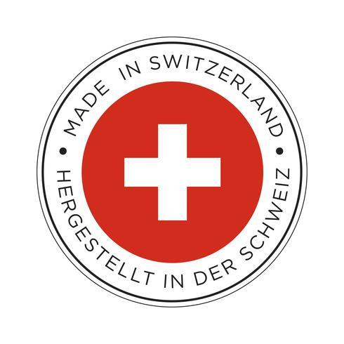 Made in Switzerland Flaggensymbol.