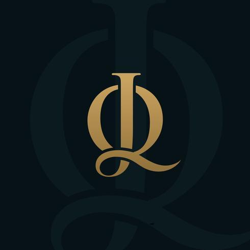 carta de luxo jq modelo de conceito de design de logotipo
