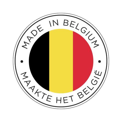 Gemaakt in België vlagpictogram.