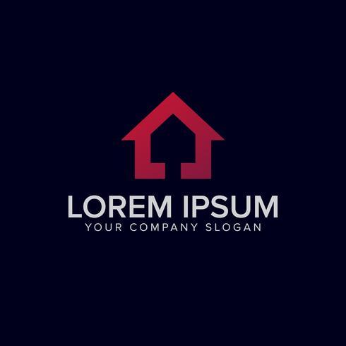 Plantilla de concepto de diseño de logotipo de casa púrpura vector