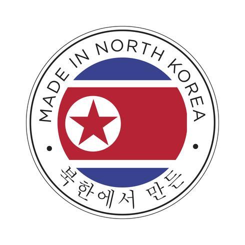Fatto nell'icona della bandiera della Corea del Nord.