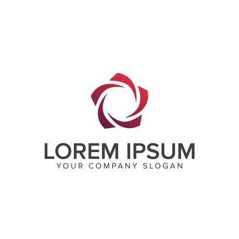 modelo de conceito de design de logotipo cirle estrela roxa
