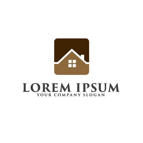 Logo immobiliare Concetto di design del logo di costruzione architettonica