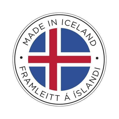 Hecho en el icono de la bandera de Islandia.