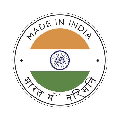 Feita no ícone de bandeira da Índia.