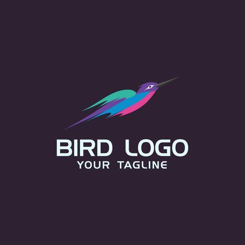 Creatieve kolibrie Logo concept ontwerpsjablonen