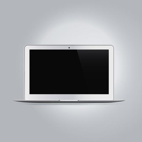 Ordenador portátil realista dispositivo maqueta