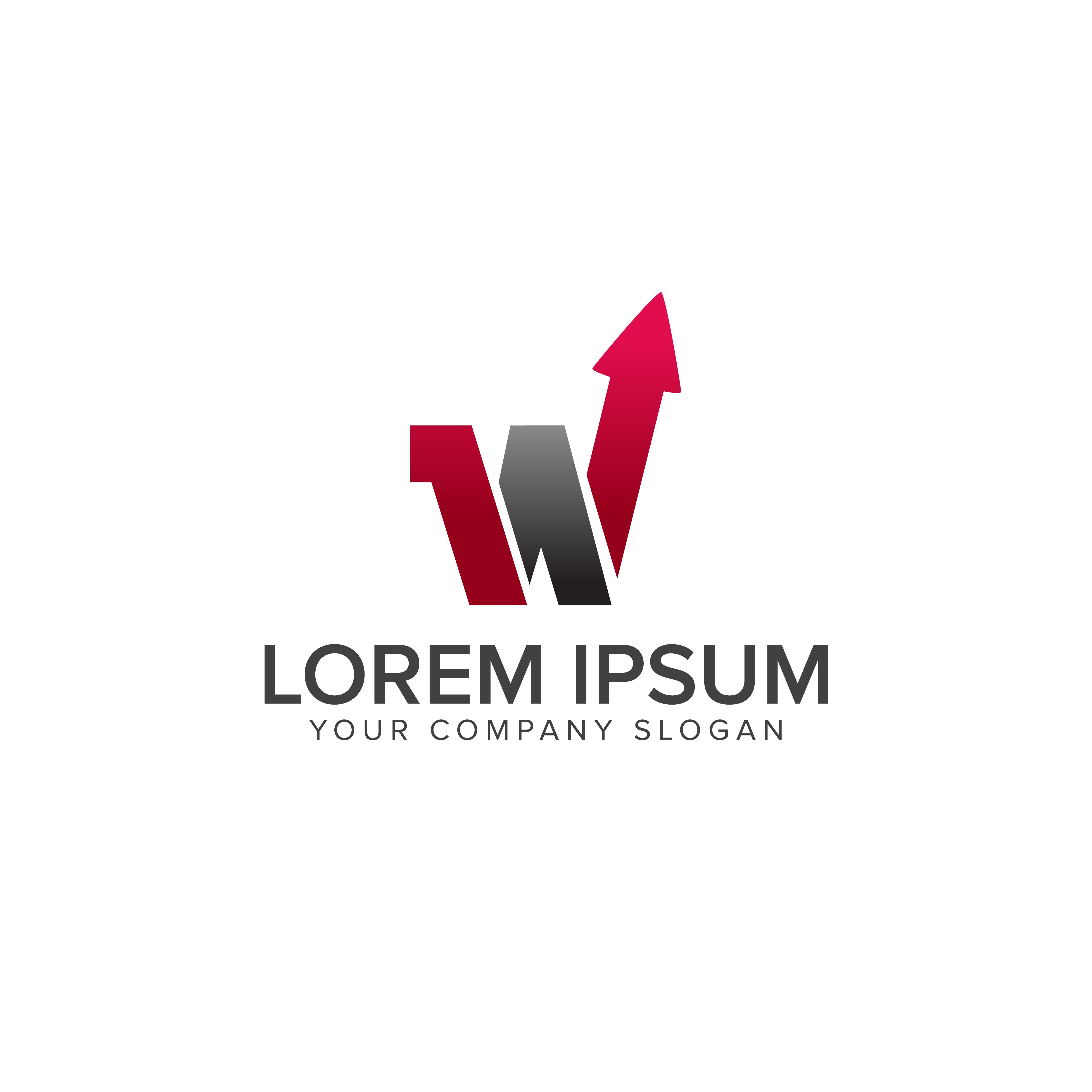 letter w arrow logo design concept template - Download ...