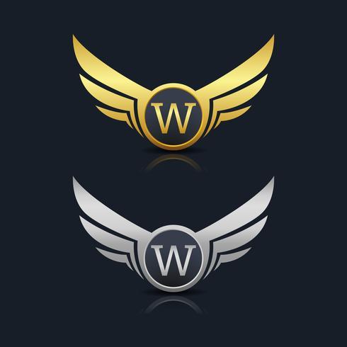 Emblema de letra W logotipo