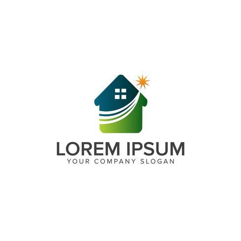 Logo immobiliare, logo della casa, logo della casa, logo della proprietà, logo vettoriale