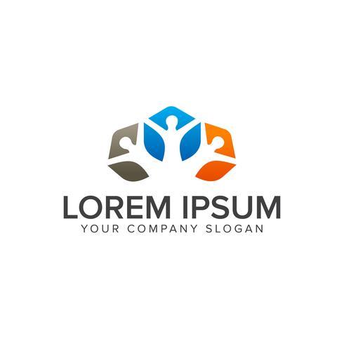 people Business en Consulting-logo. teamwerk communicatie groep