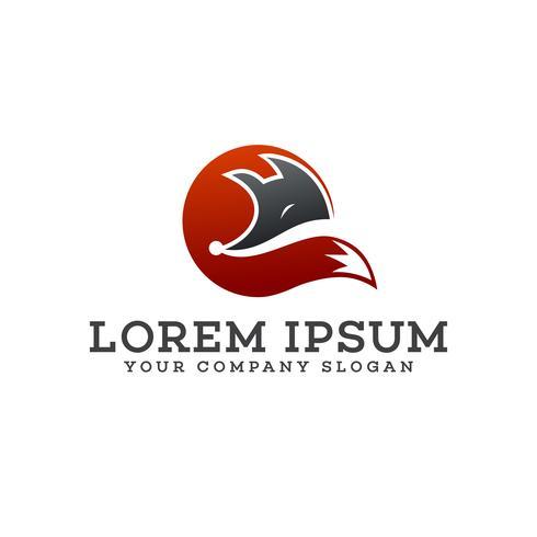 modelo de conceito de design de logotipo de lobo