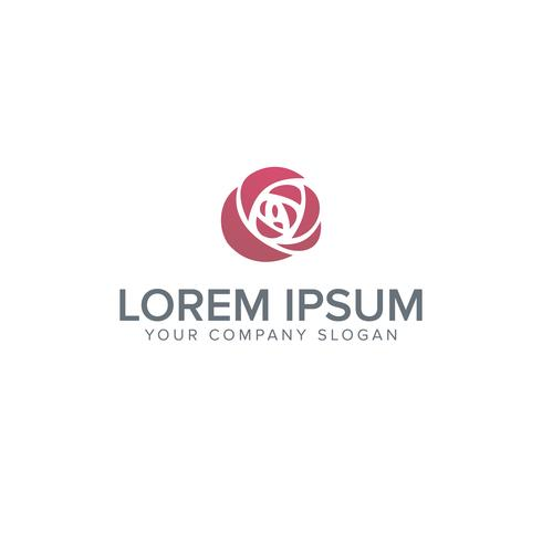 Logotipo de los iconos de la flor - aislados en fondo blanco - vector ilust