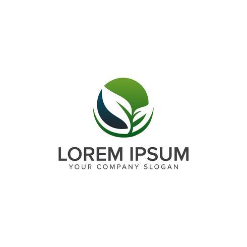 modelo de conceito de design de logotipo eco folha verde