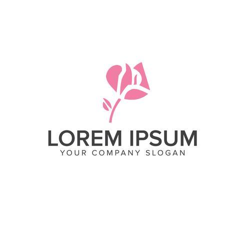 roze bloem logo ontwerpsjabloon concept