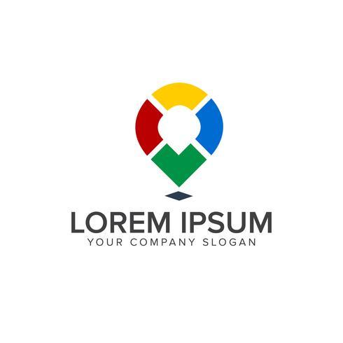 Kartenstandort Medien Logo Design-Konzept-Vorlage