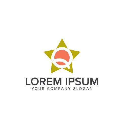 modèle de concept de design star lettre q logo vecteur