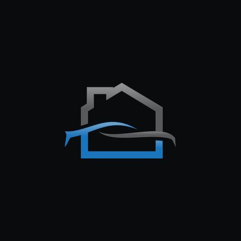 Creative Home Car Logo concepto plantillas de diseño