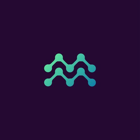 reative Lettera M Logo concept design templates