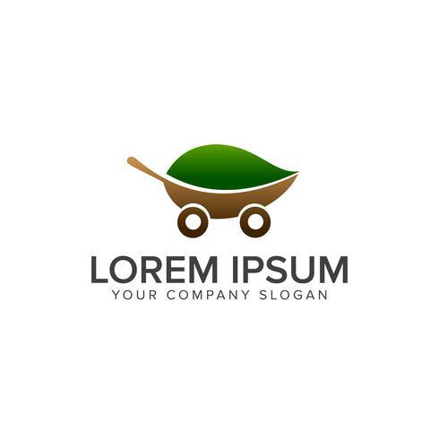 Modelo de conceito de design de logotipo de carro bio