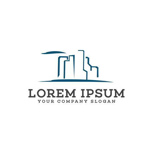 Immobilien-Logo. Architectural Construction Logo-Design-Konzept