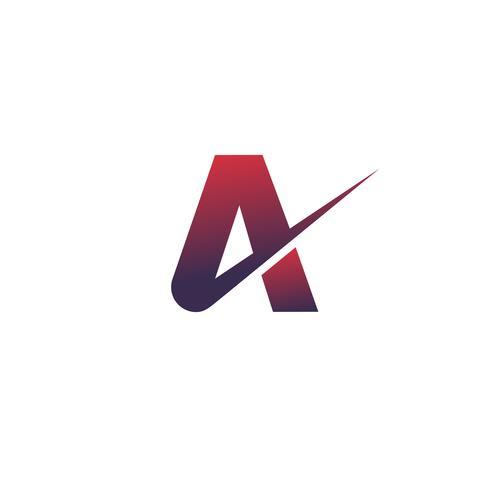 carta una plantilla de concepto de diseño de logotipo