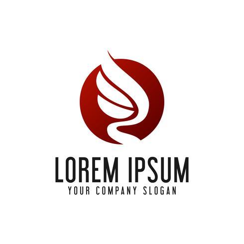 Plantilla de concepto de diseño de logotipo de alas de lujo