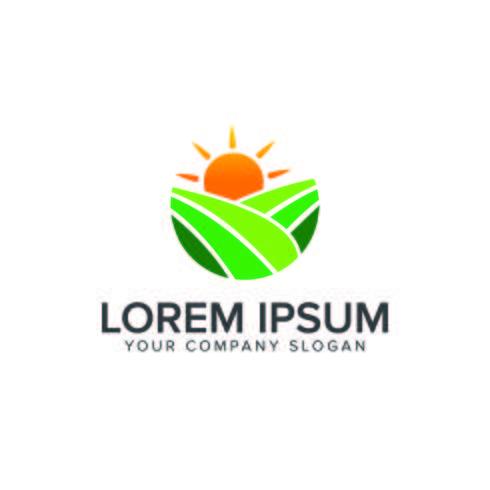 Plantilla de concepto de diseño de logotipo ambiental y verde paisajismo