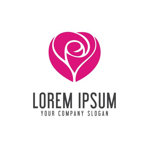 elegant flower logo Spa Cosmetics and beauty vector
