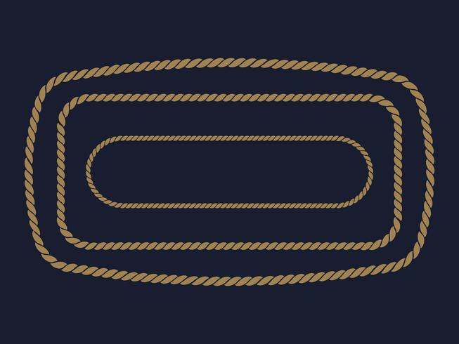 Seilrahmen. Vektor-Illustration