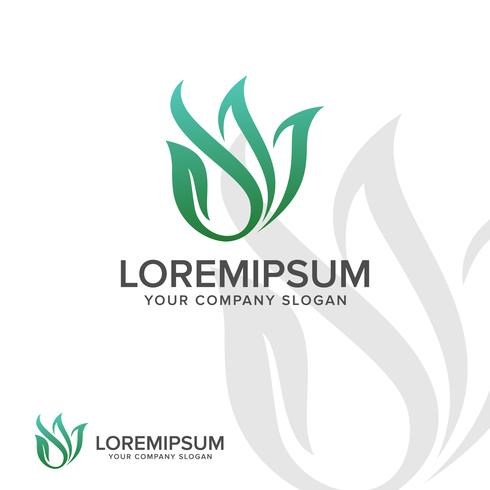 abstract bladembleem. Landscaping Leaf aard logo ontwerpconcept