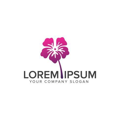 flower logo. Cosmetics and beauty logo design concept template vector