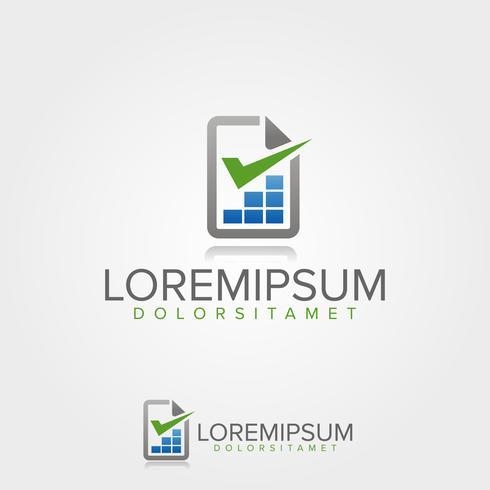 Modelo de logotipo de negócios de lista de verificação Finanças vetor