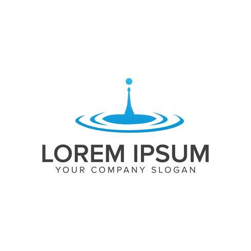 Plantilla de concepto de diseño de logotipo de gota de agua líquida vector