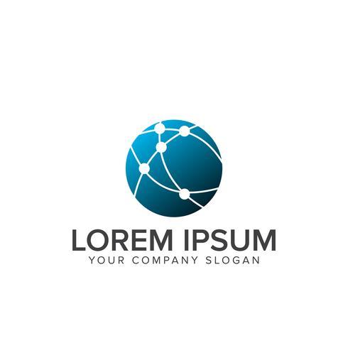 netwerk logo. Computer Internet Technology logo ontwerpconcept t