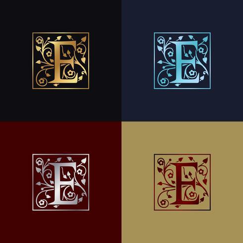 Letra e logotipo decorativo