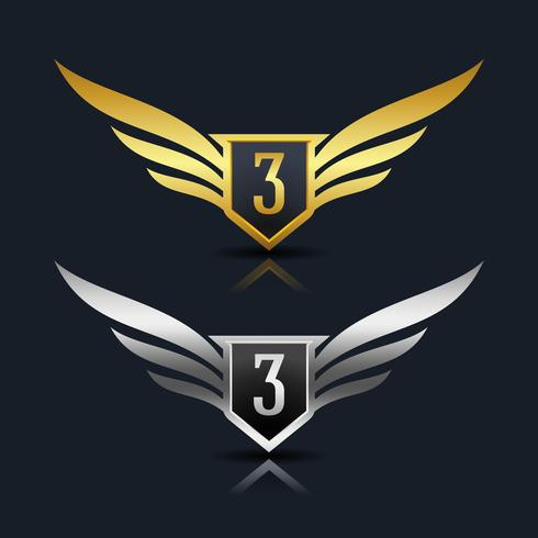 Letter 3 emblem Logo
