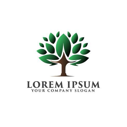 modello di concetto di design logo albero