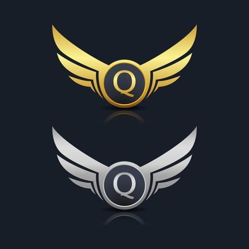 Buchstabe Q Emblem Logo