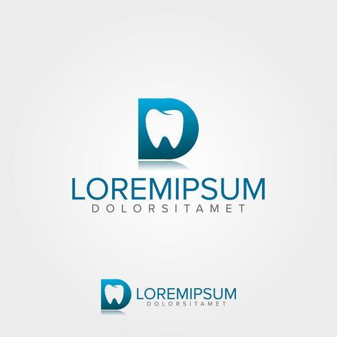 Modèle de logo dentaire médical