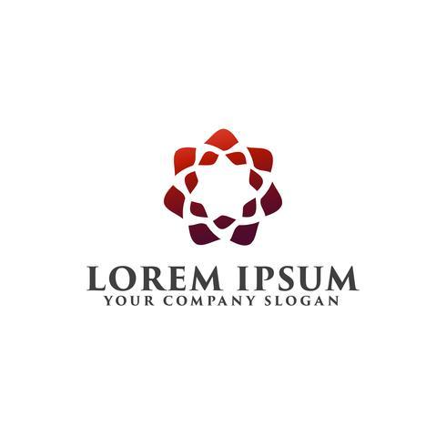 logotipo de luxo estrela abstrata. conceito de design de logotipo de decoração templa vetor