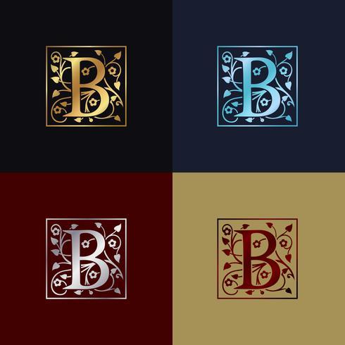 Logo décoratif lettre B vecteur