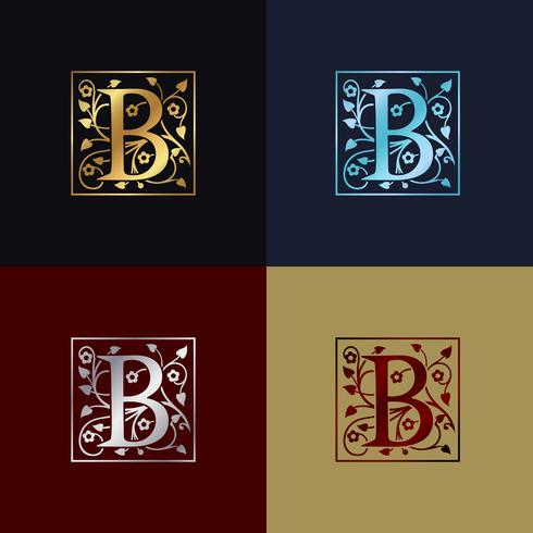 Letter B decoratieve logo vector