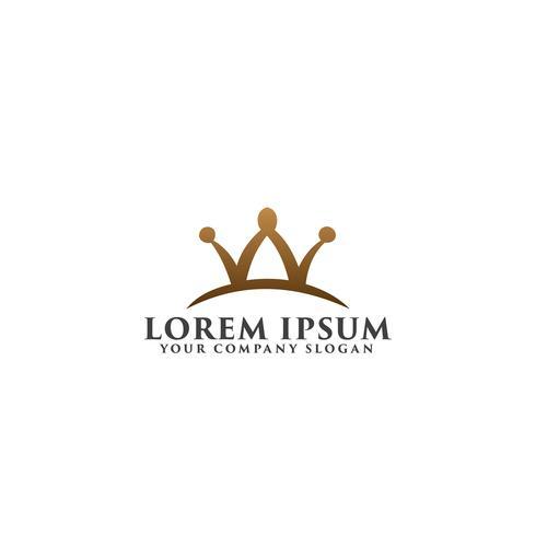 brev w krona logo design koncept mall
