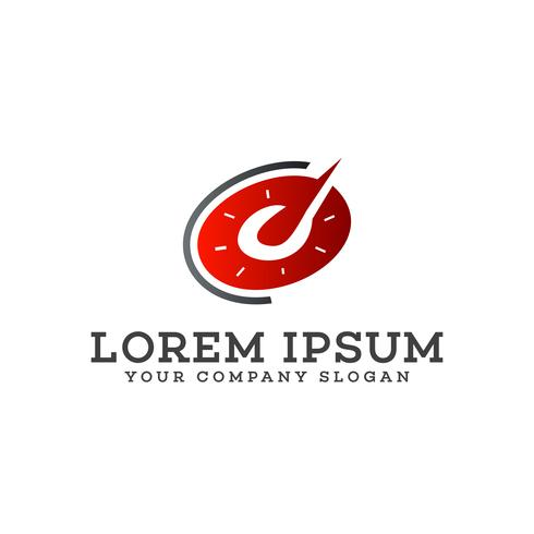 auto snelheid logo. Toerenteller logo ontwerpsjabloon concept