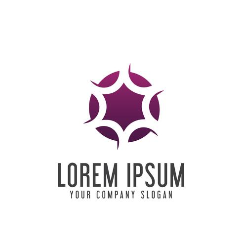 modello di concetto di design logo cerchio stella