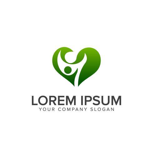 family green logo design concept template