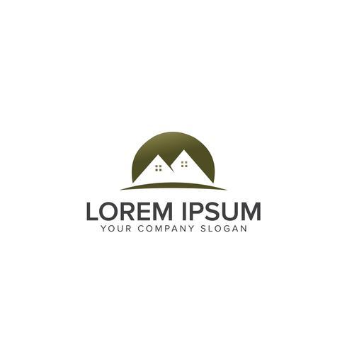 Modèle de concept de conception maison symbole logo