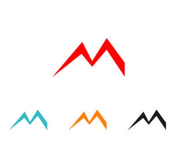 M logo Carta vector iconos tales plantillas de logotipos