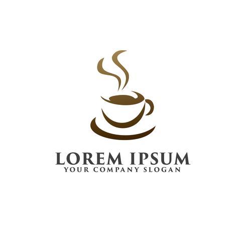 modèle de concept de conception de logo coffe